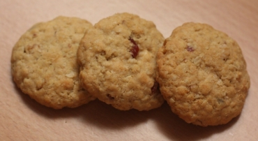 Oat Cranberry White Chocolate Cookies